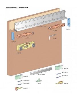 CENTRAL P, porta scorrevole esterno muro