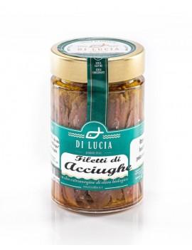 Filetti di Acciughe in olio extra vergine biologico