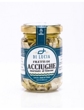 Filetti di Acciughe marinate al limone in olio d'oliva