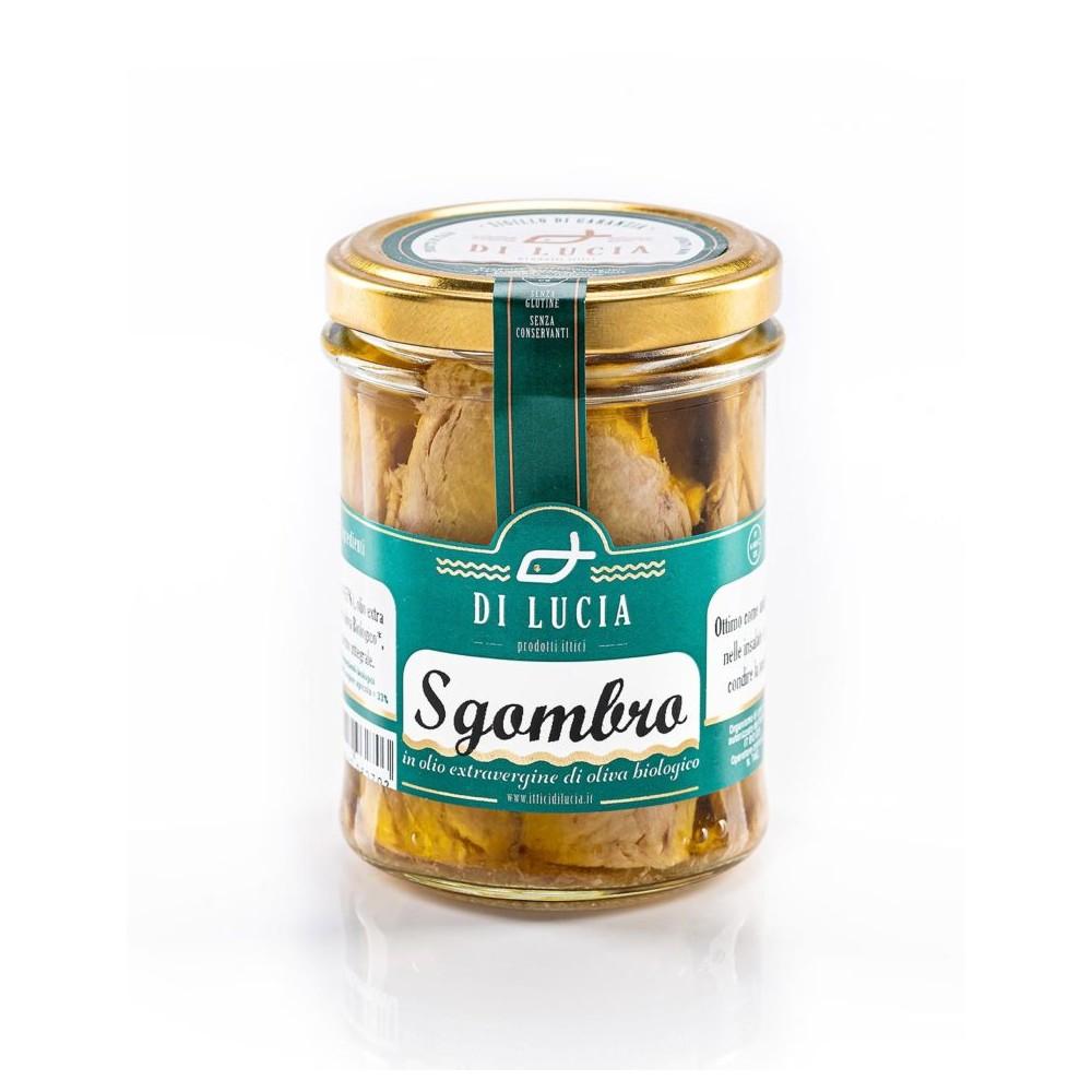 Filetti di sgombro in olio extra vergine di oliva biologico