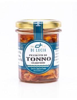 Pezzetti di Tonno con peperoncino in olio d'oliva