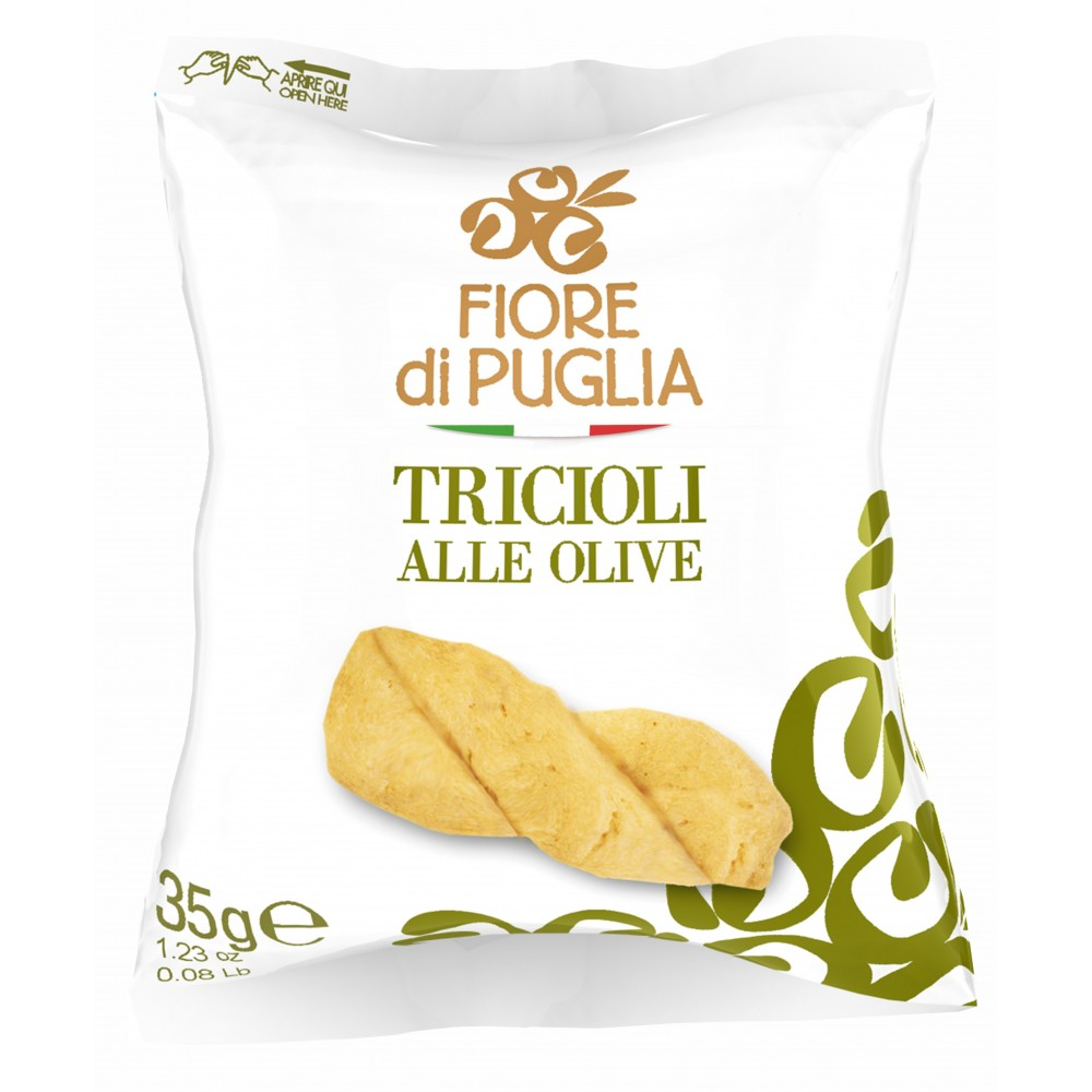 TRICIOLI ALLE OLIVE  35GR - 60 CONFEZIONI - FIORE DI PUGLIA