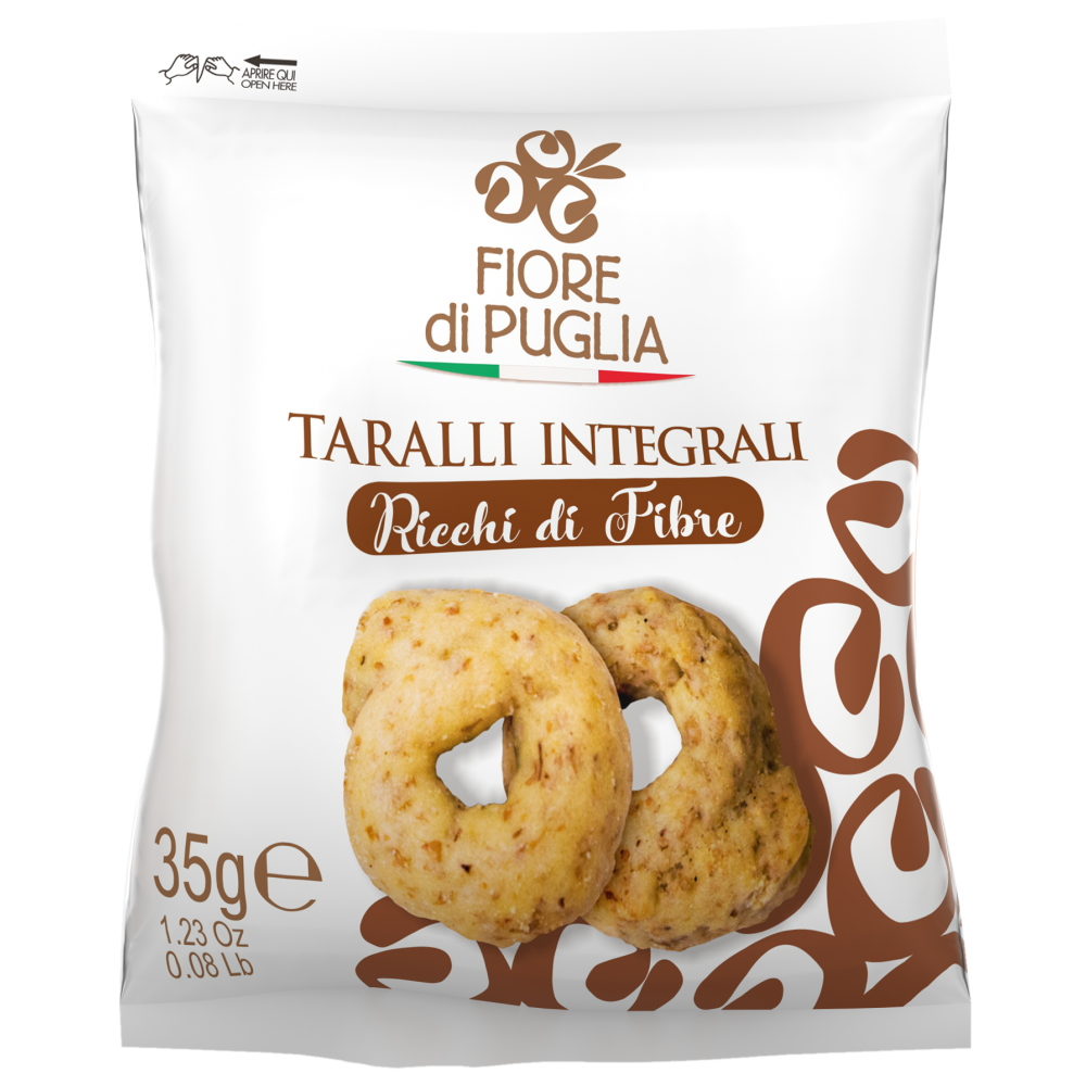 TARALLI INTEGRALI -60PEZZI - 35GR. FIORE DI PUGLIA
