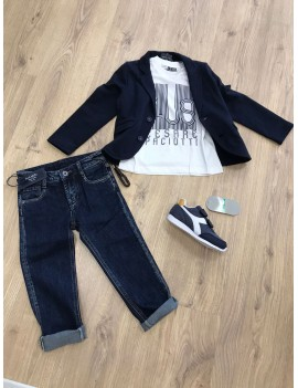 Completo Jeans, T-shirt e Giacca