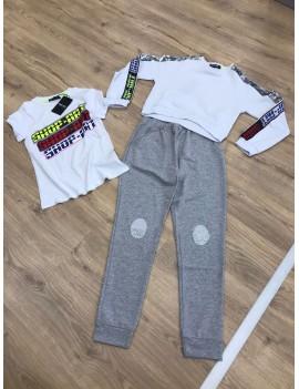 Completo pantalone, felpa e t-shirt