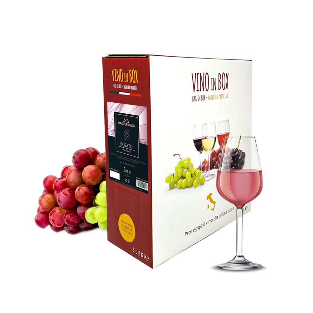 vino rosato Italiano in bag in box 5 litri