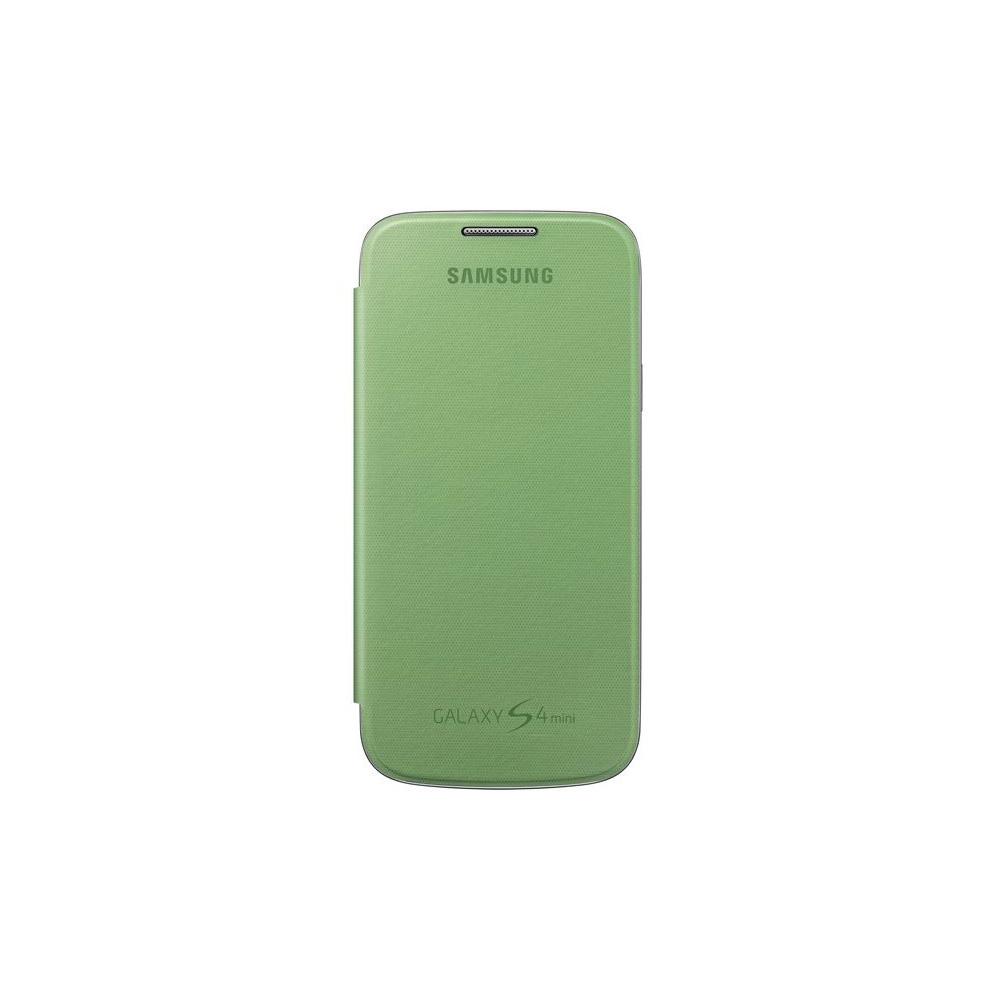COVER PER SAMSUNG GALAXY S4 MINI FLIP GREEN BULK - Ciaoone