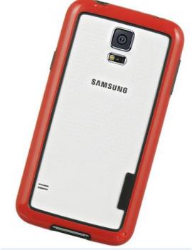 CUSTODIA PER SAMSUNG GALAXY S5 G900 BUMPER PATRICK FRAME-S5R RED