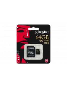 MEMORY CARD MICRO SD/TRANSFLASH 64GB KINGSTON CLASSE 10 SDCA10/64GB