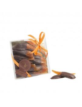 Scorze di arancio candite ricoperte con fondente - Ciaoone