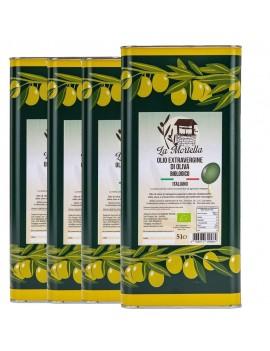 Olio extravergine di Oliva biologico Conf. da 4 lattine -