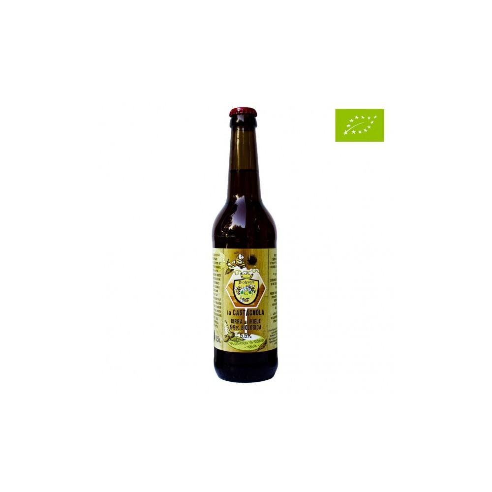 LA CASTAGNOLA – Birra rossa artigianale biologica al Miele di Castagno