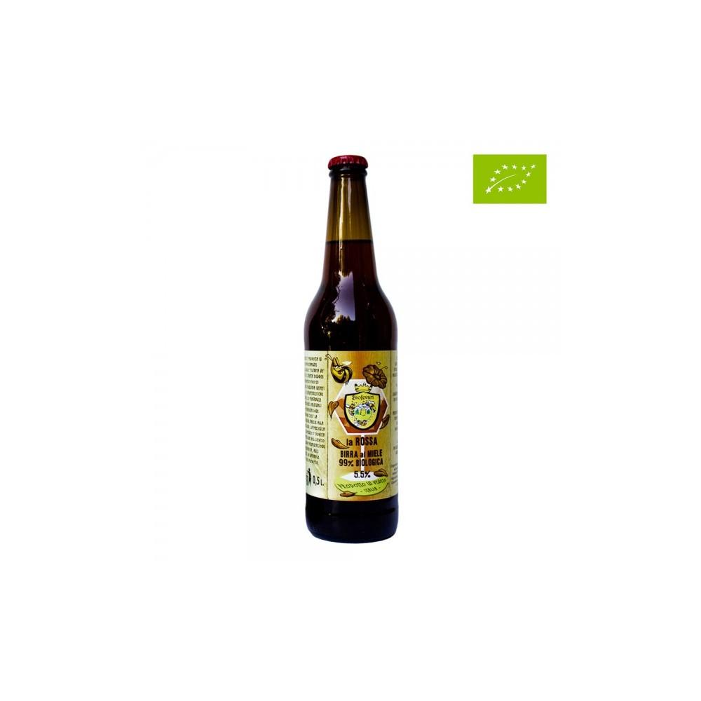 LA ROSSA – Birra rossa artigianale biologica al Miele Millefiori