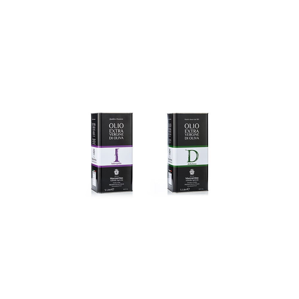 Olio extravergine di oliva ASSORTITO D&I – 2 lattine da 5 litri Mazzierri olio