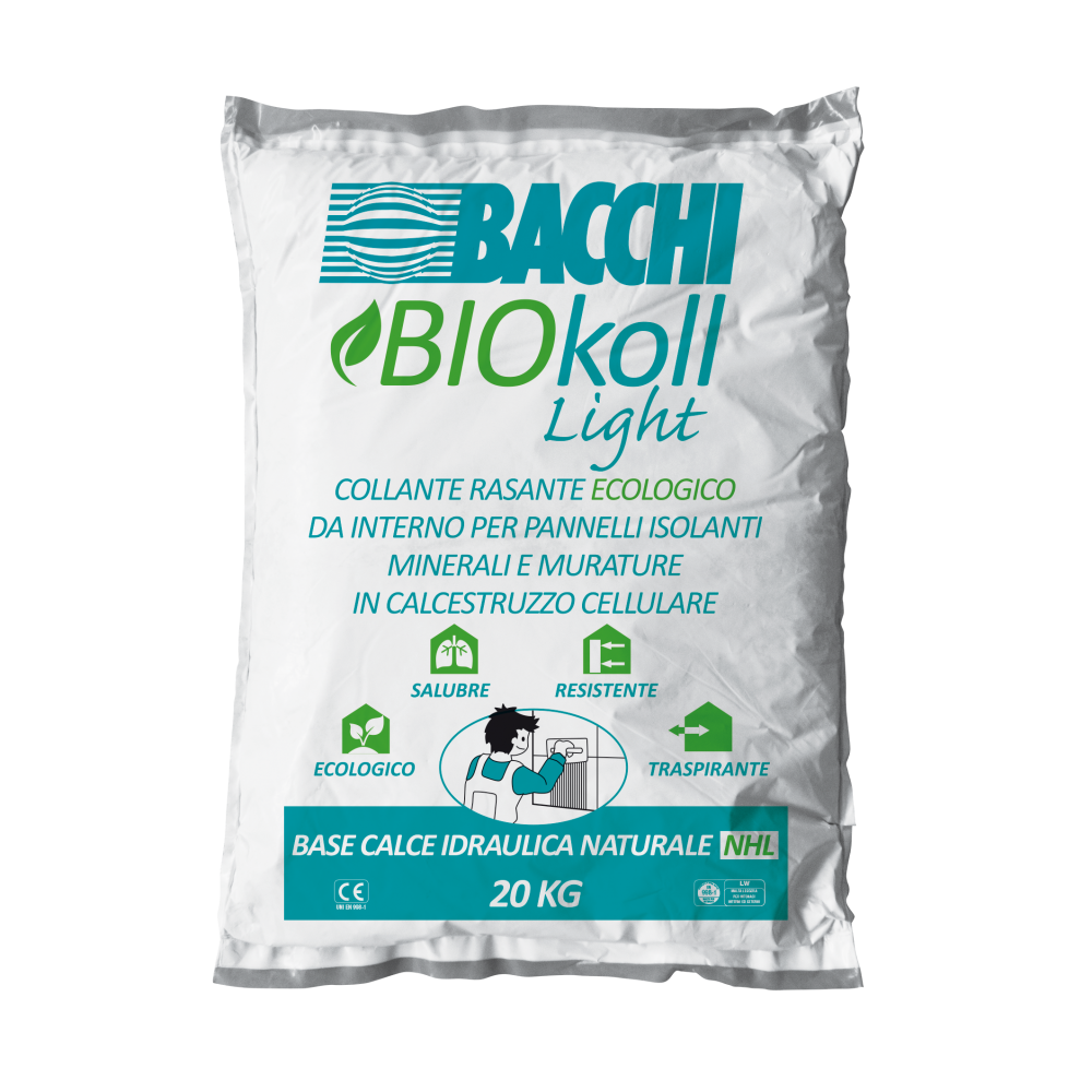BIOkoll Light Collante - Rasante Ecologico in sacco