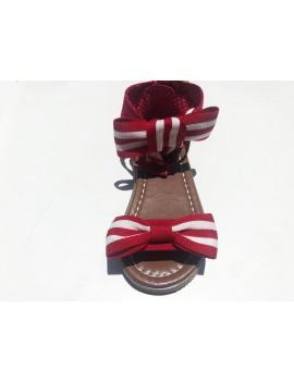 Sandali con fiocco